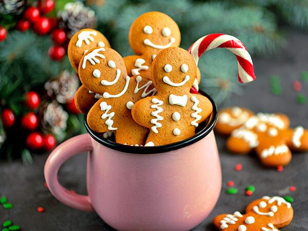Ensemble de biscuits des fêtes